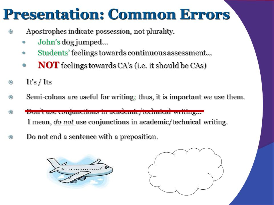 Presentation: Common Errors
