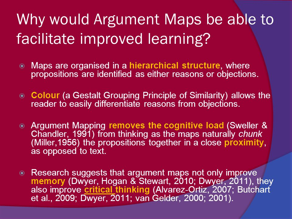 Why would Argument Maps be able to facilitate improved learning