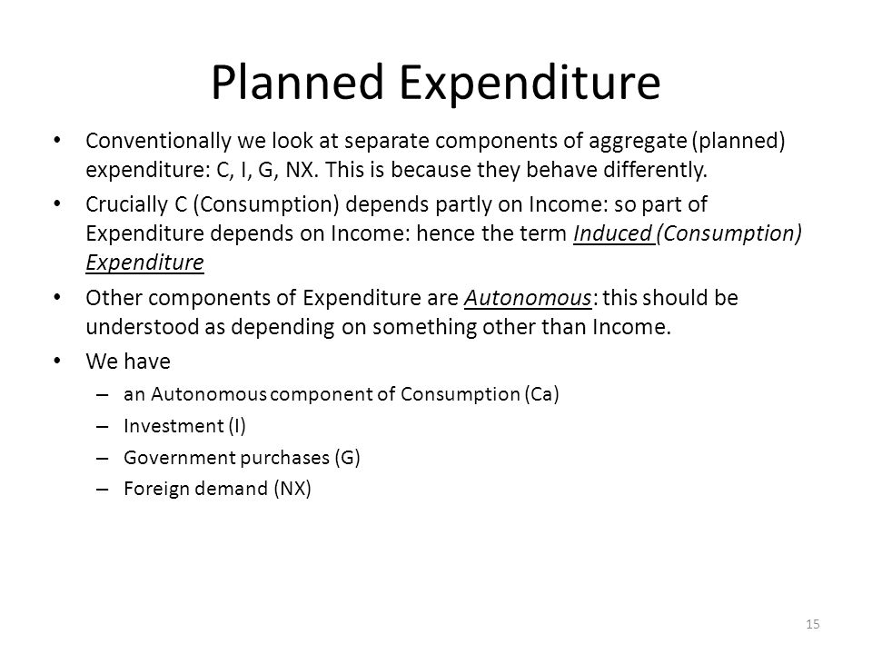 Planned Expenditure