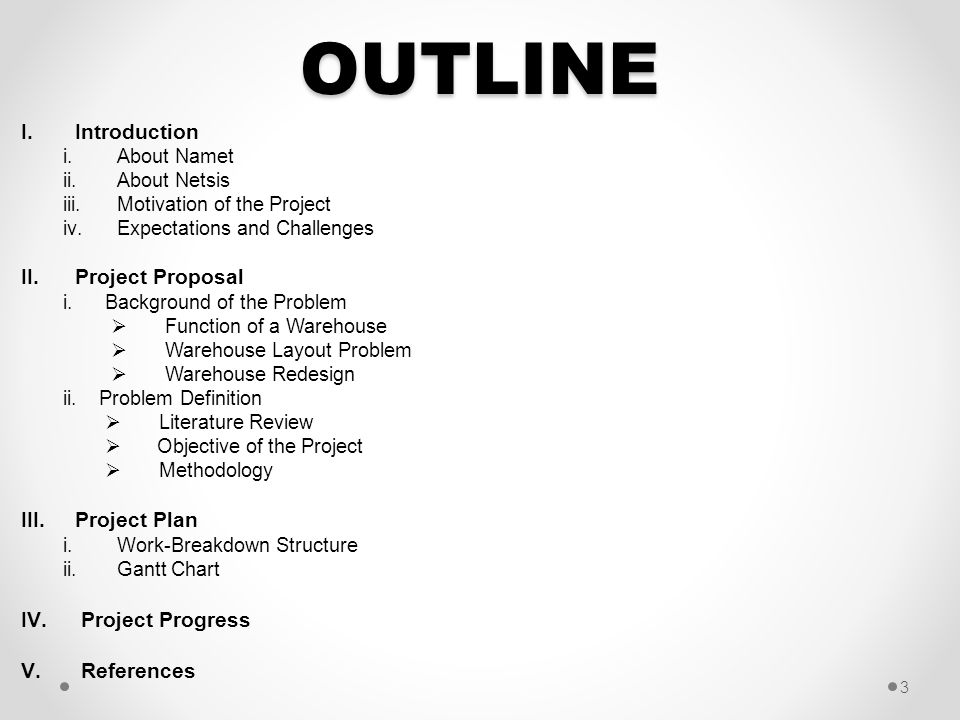 OUTLINE Introduction Project Proposal Project Plan Project Progress