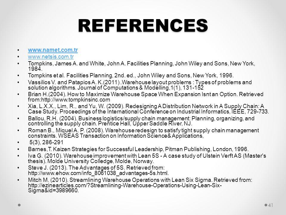 REFERENCES www.namet.com.tr www.netsis.com.tr