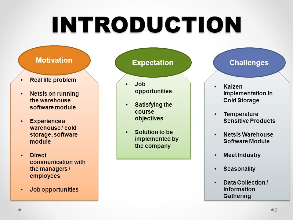 INTRODUCTION Motivation Expectation Challenges Real life problem