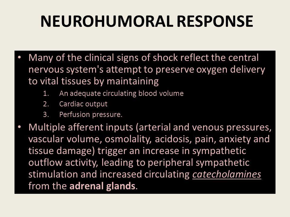 NEUROHUMORAL RESPONSE