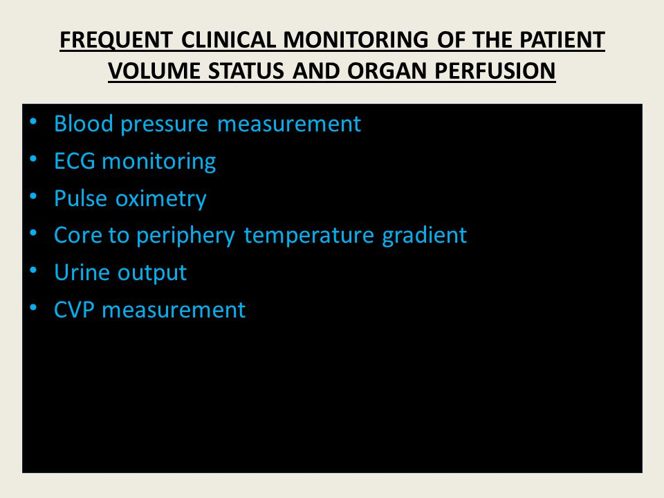 Blood pressure measurement ECG monitoring Pulse oximetry