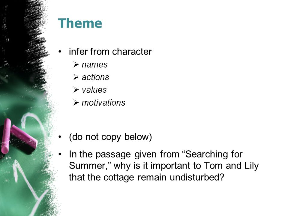 Theme infer from character (do not copy below)
