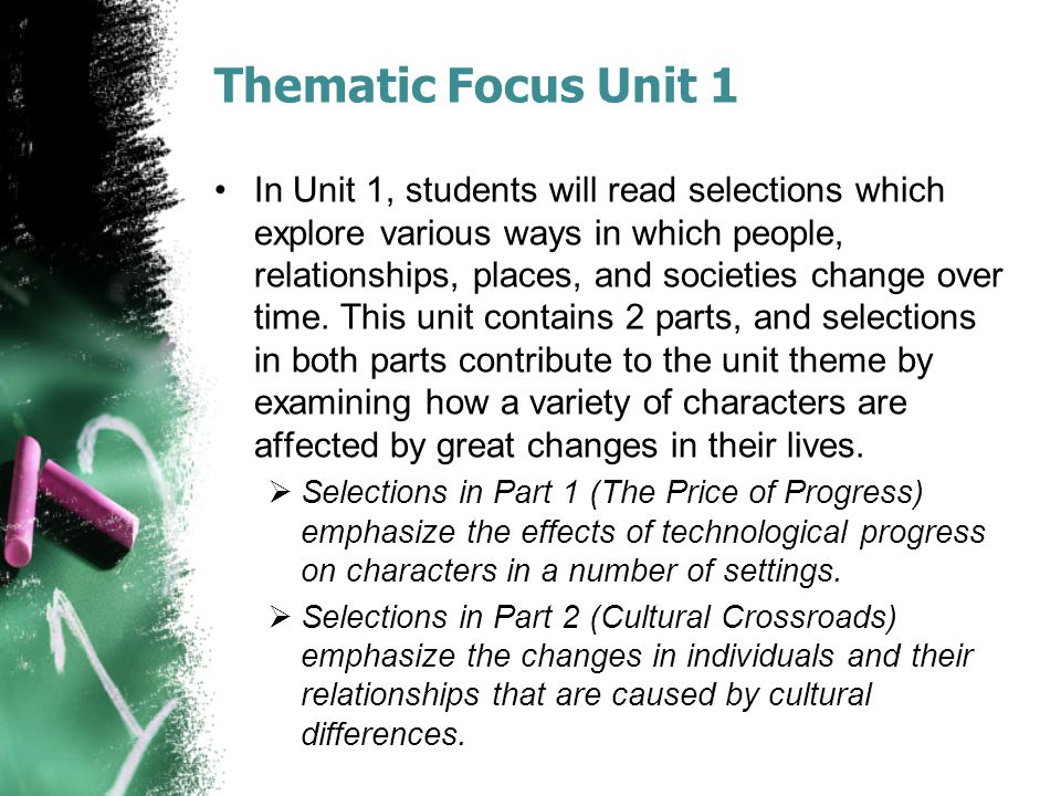 Thematic Focus Unit 1