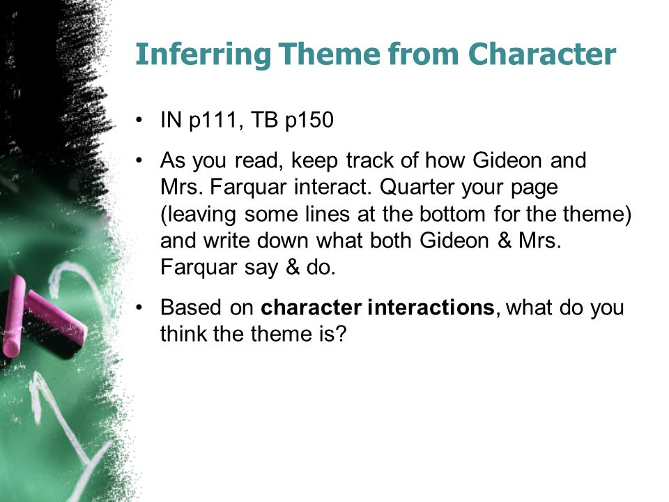 Inferring Theme from Character