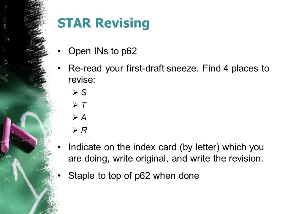 STAR Revising Open INs to p62