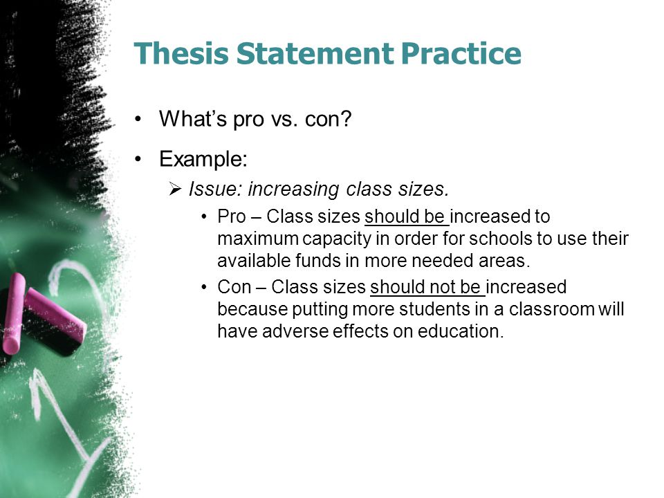 Thesis Statement Practice