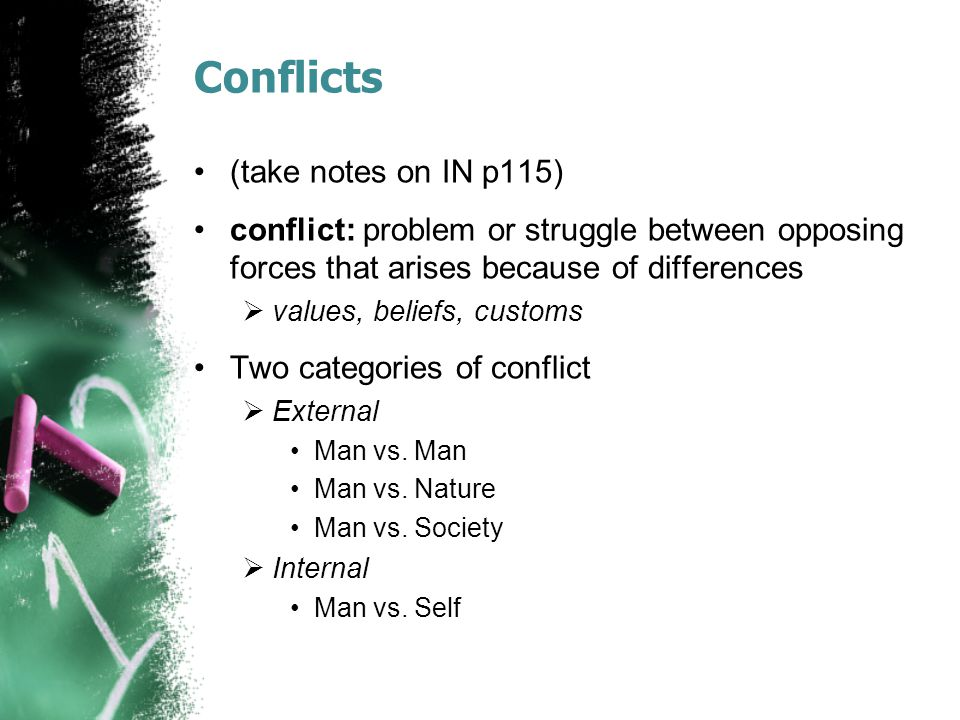 Conflicts (take notes on IN p115)