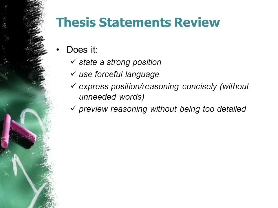 Thesis Statements Review