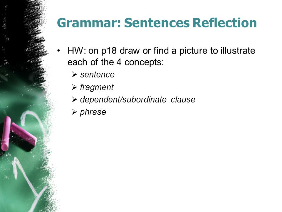 Grammar: Sentences Reflection