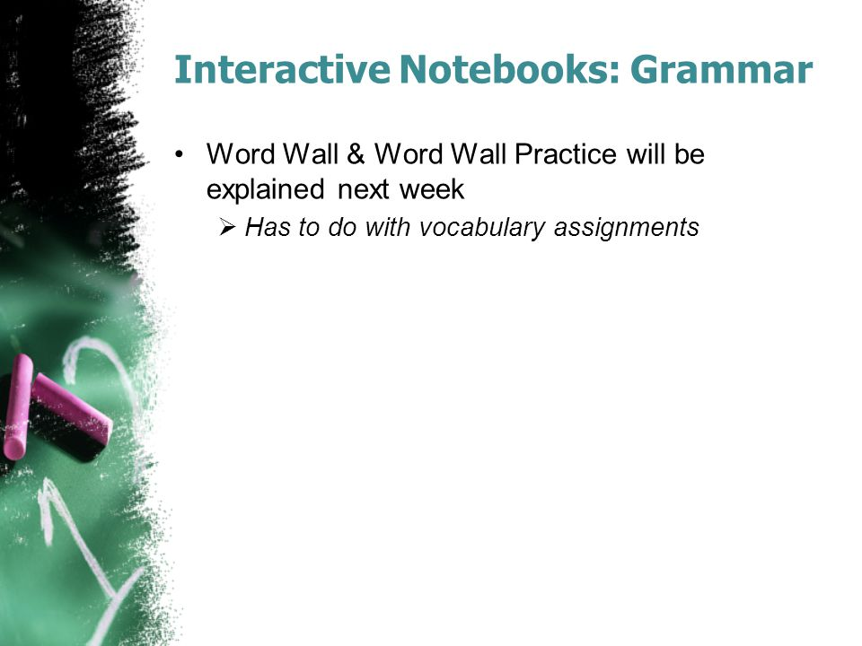 Interactive Notebooks: Grammar