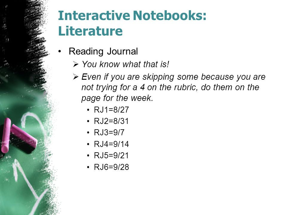Interactive Notebooks: Literature
