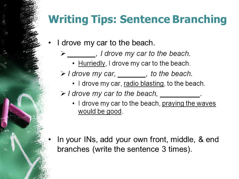 Writing Tips: Sentence Branching