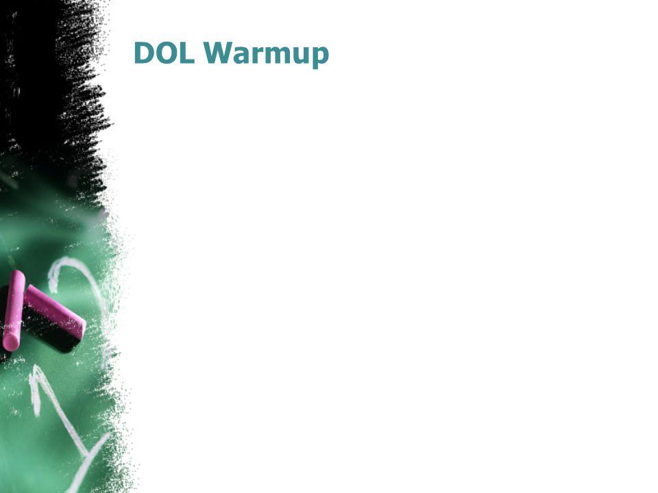 DOL Warmup