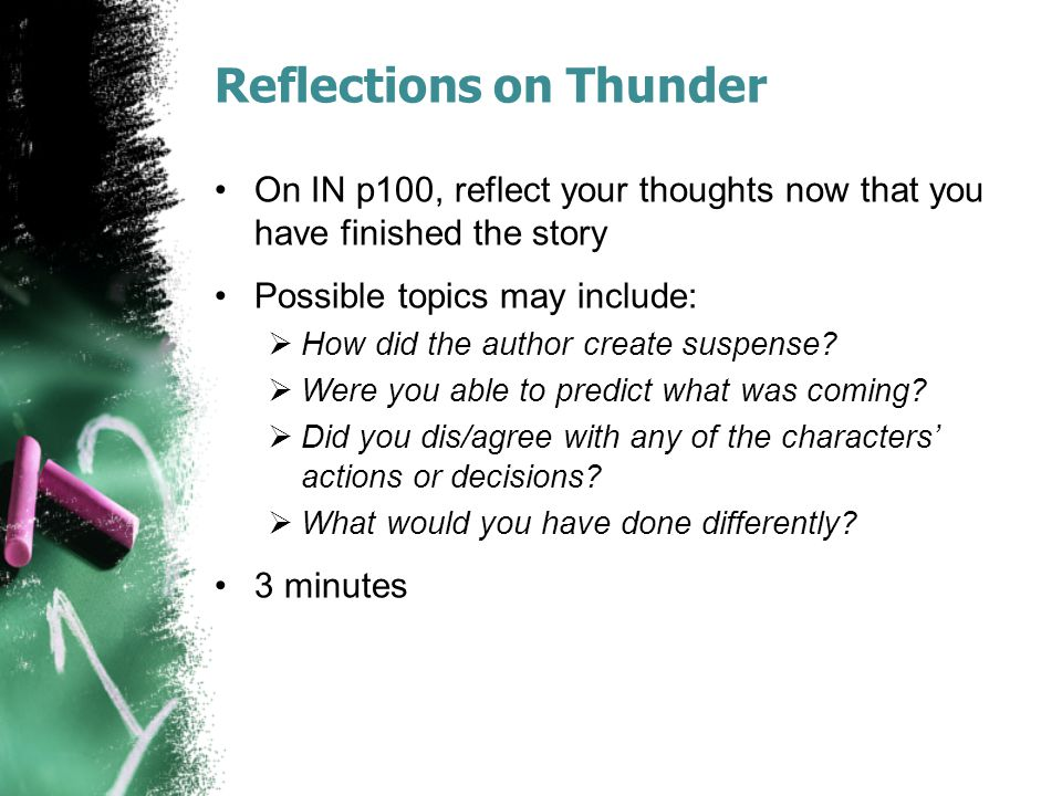 Reflections on Thunder