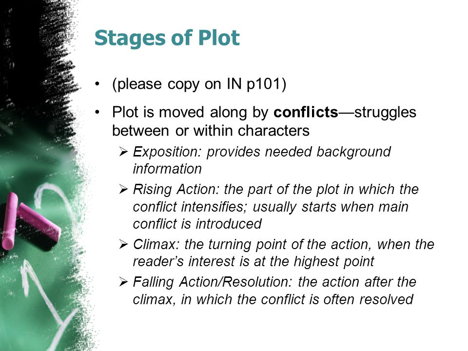 Stages of Plot (please copy on IN p101)