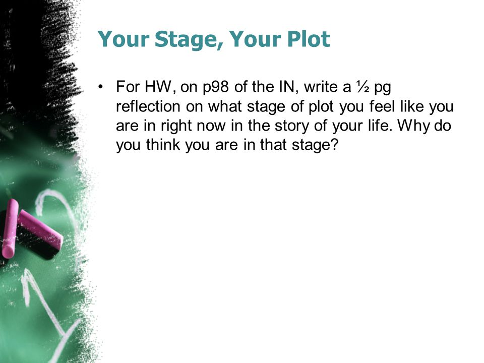 Your Stage, Your Plot