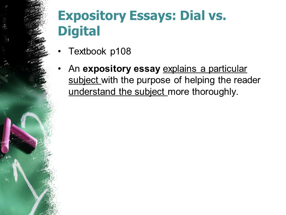 Expository Essays: Dial vs. Digital