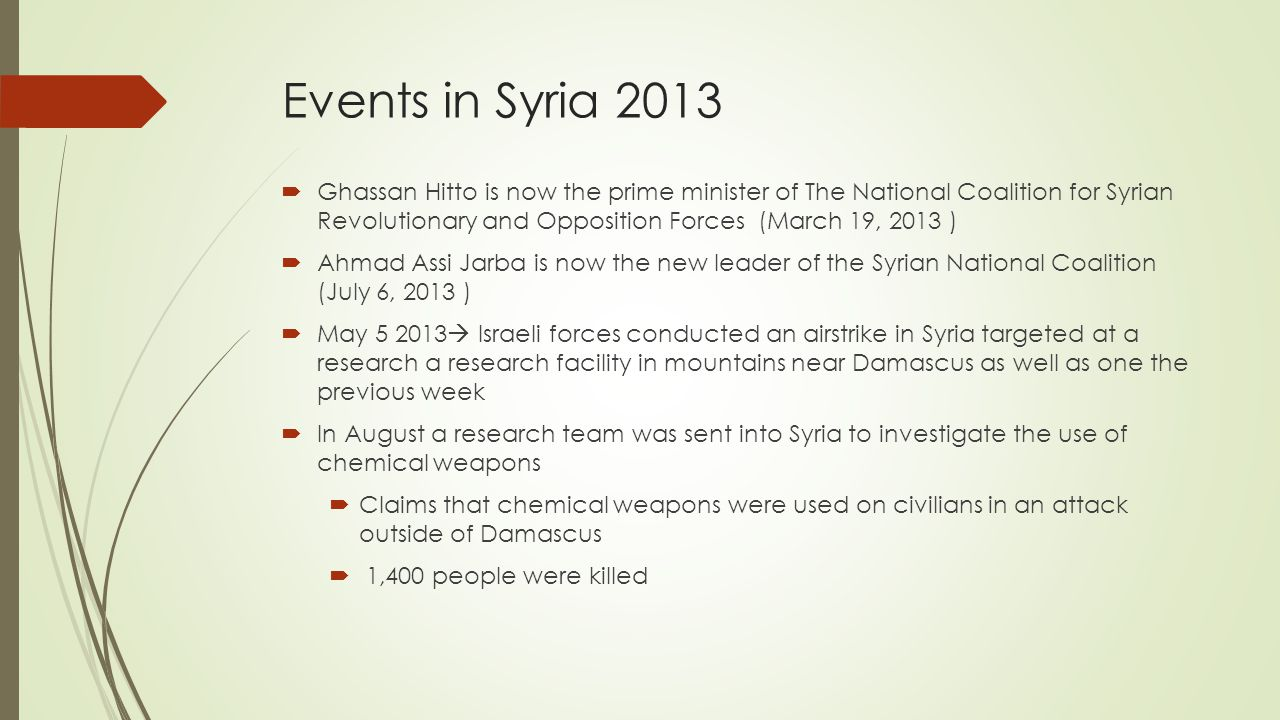 Events in Syria 2013