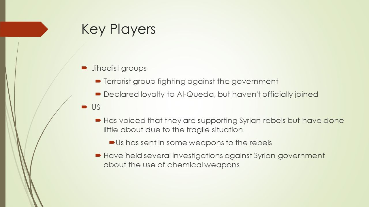 Key Players Jihadist groups