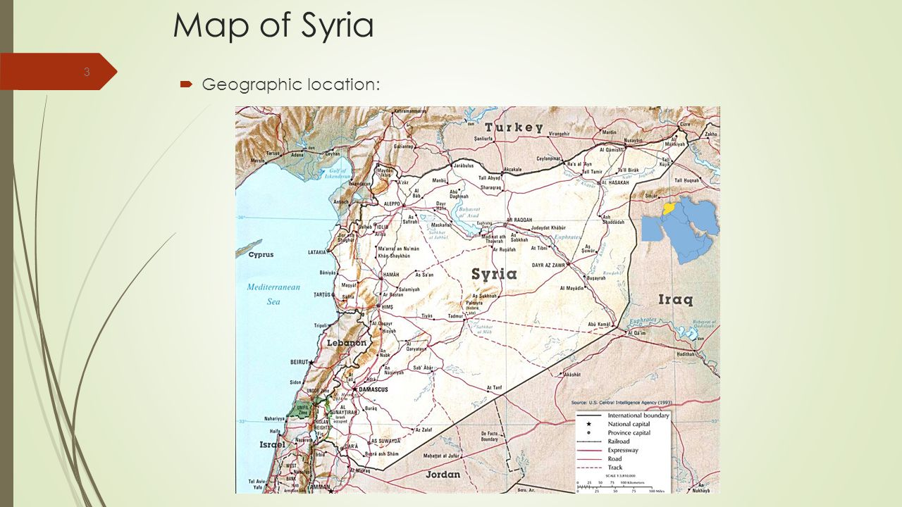 Map of Syria Geographic location: www.sacouncil.com