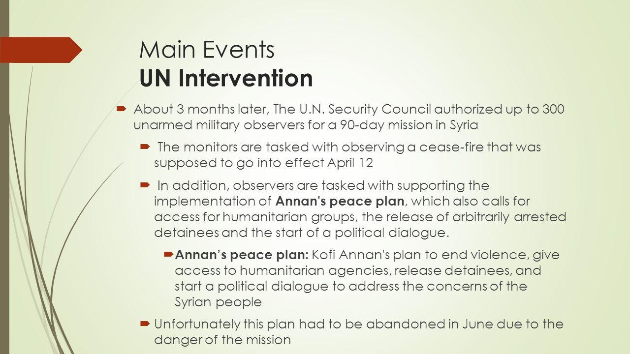 Main Events UN Intervention