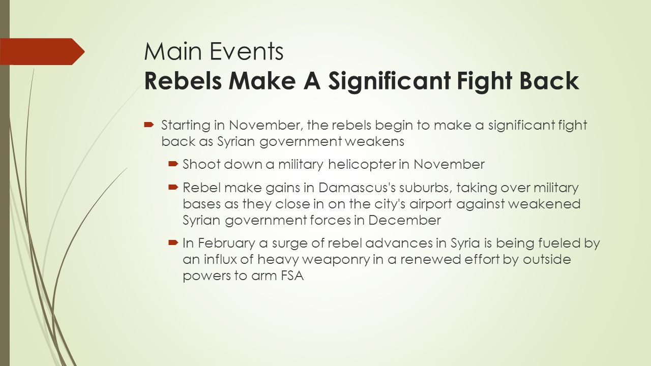 Main Events Rebels Make A Significant Fight Back