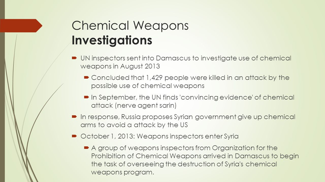 Chemical Weapons Investigations
