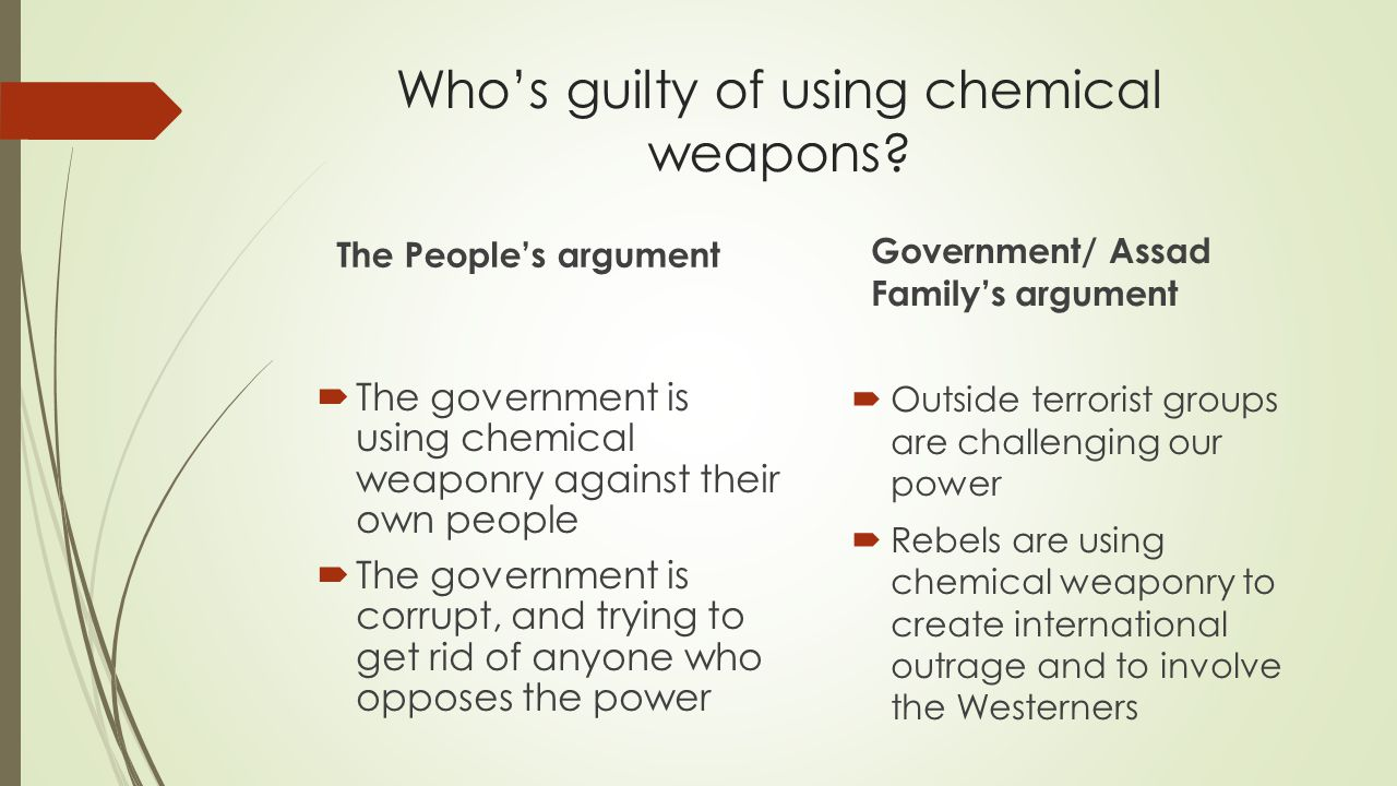 Who's guilty of using chemical weapons
