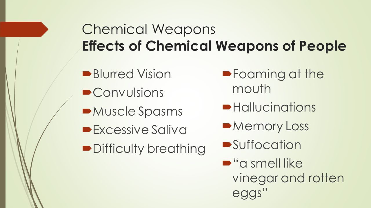 Chemical Weapons Effects of Chemical Weapons of People