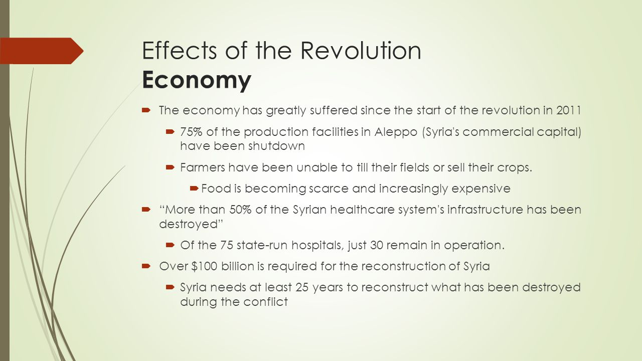 Effects of the Revolution Economy