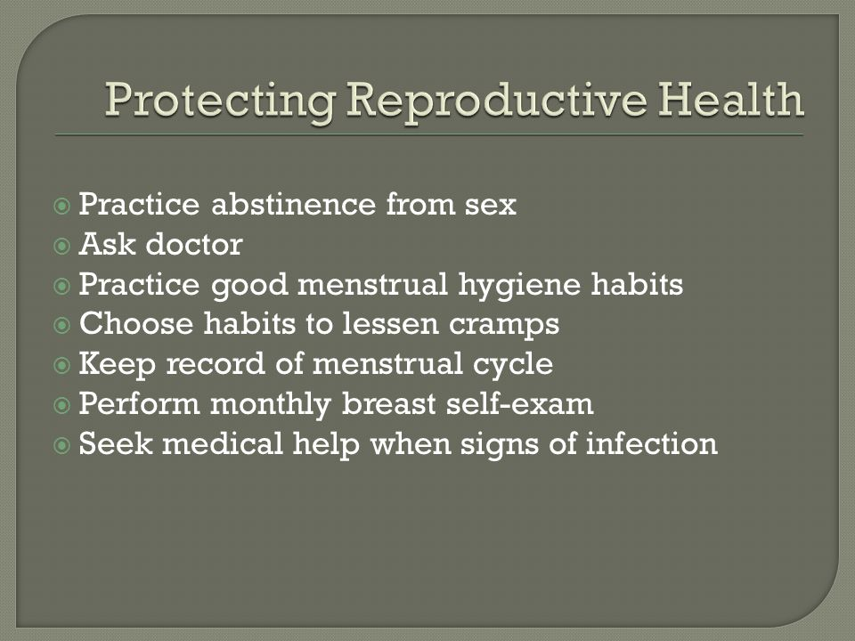 Protecting Reproductive Health
