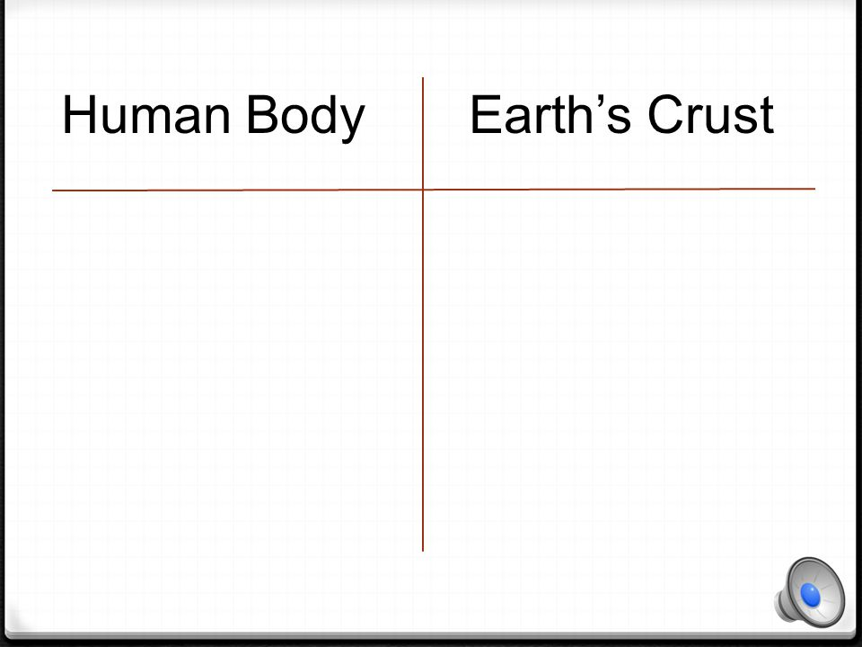 Human Body Earth's Crust