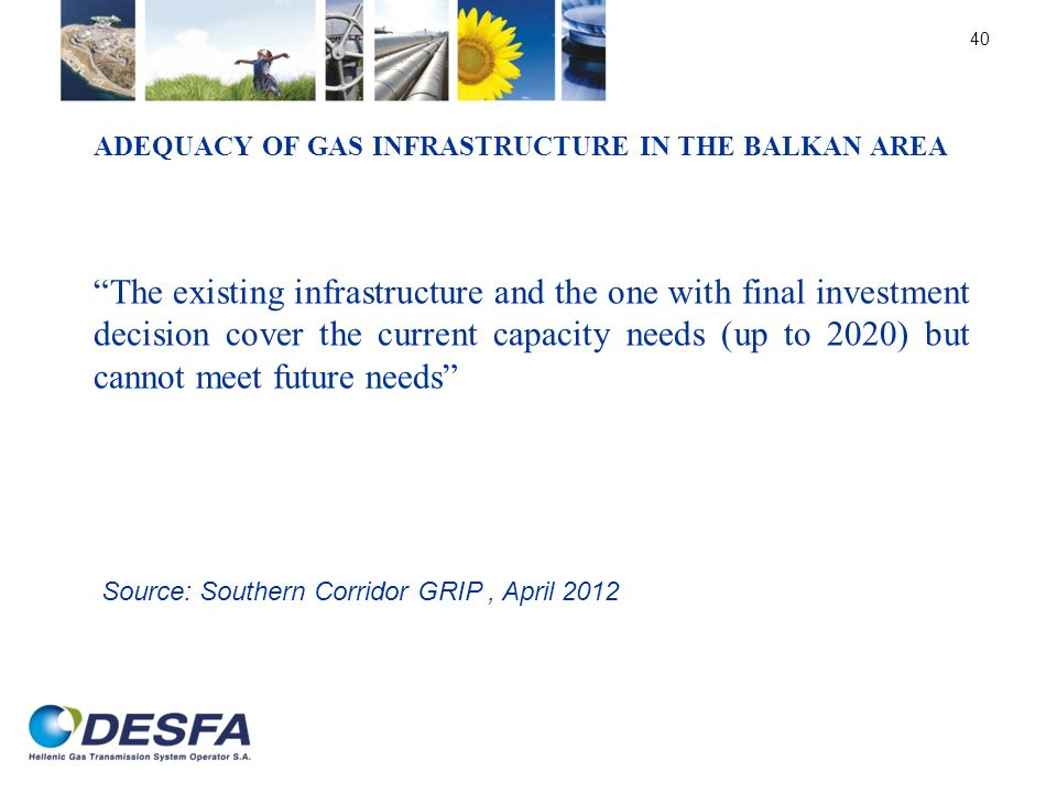 Adequacy of gas infrastructure in the Balkan area