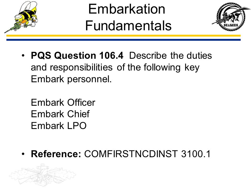 Embarkation Fundamentals