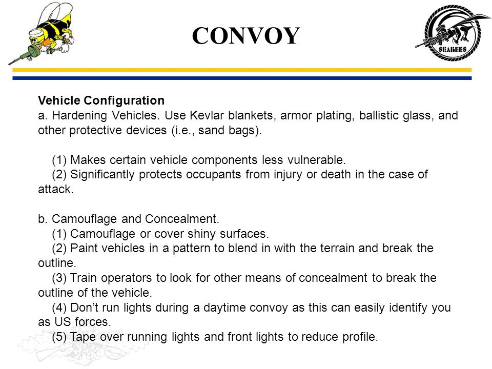 CONVOY Vehicle Configuration