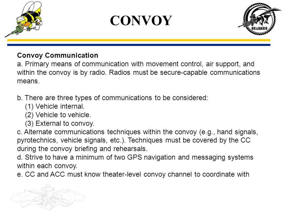 CONVOY Convoy Communication