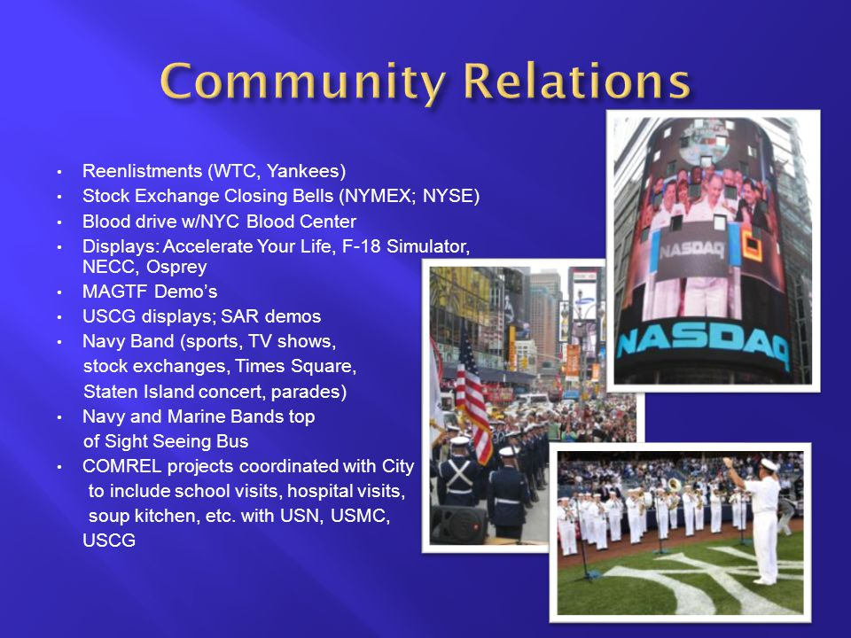 Community Relations Reenlistments (WTC, Yankees)