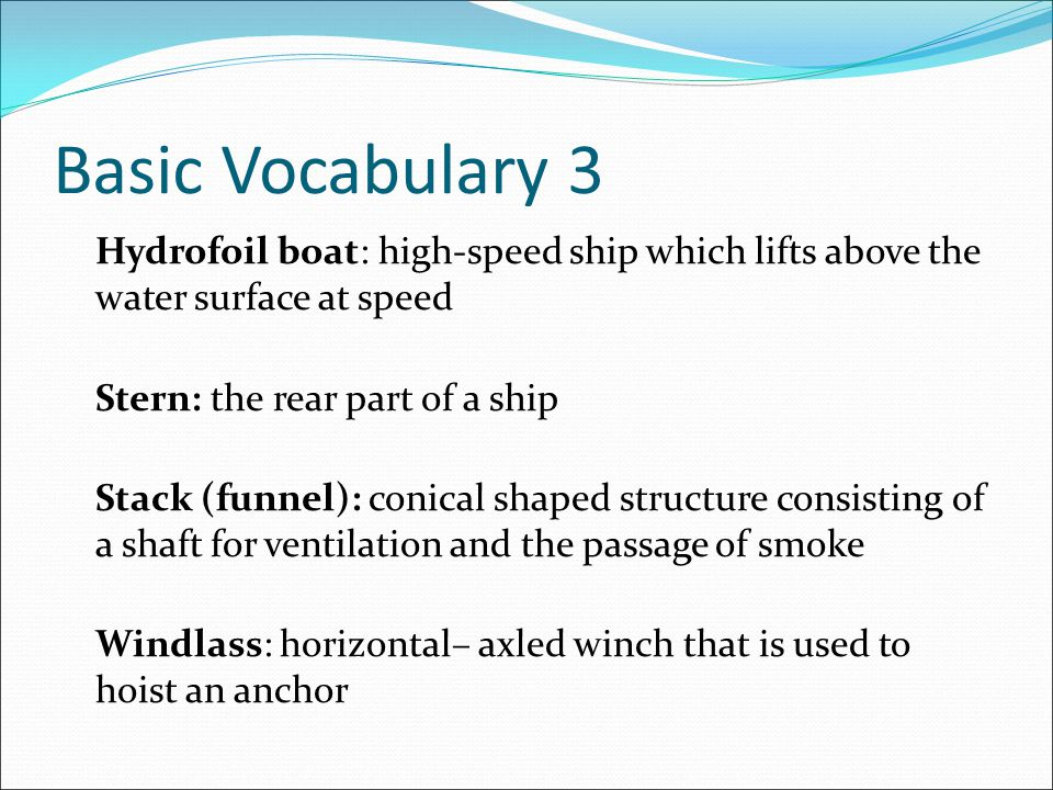 Basic Vocabulary 3