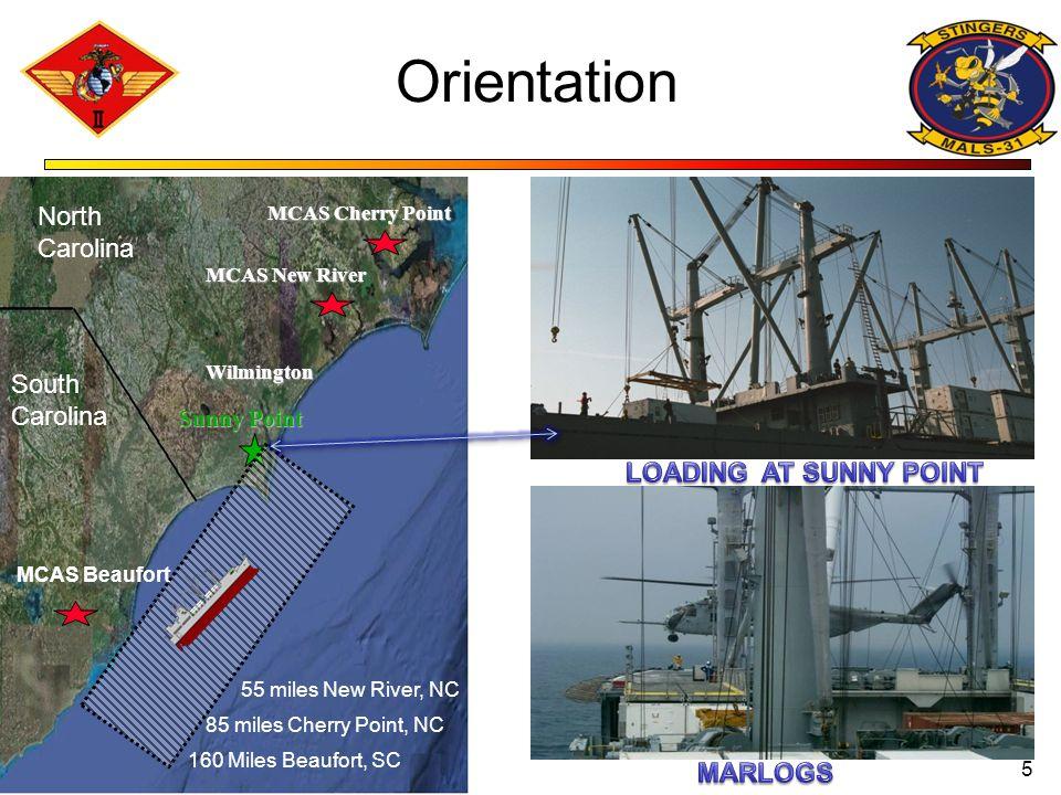 Orientation North Carolina South Carolina LOADING AT SUNNY POINT