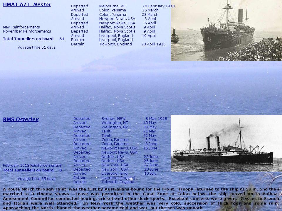 HMAT A71 Nestor RMS Osterley