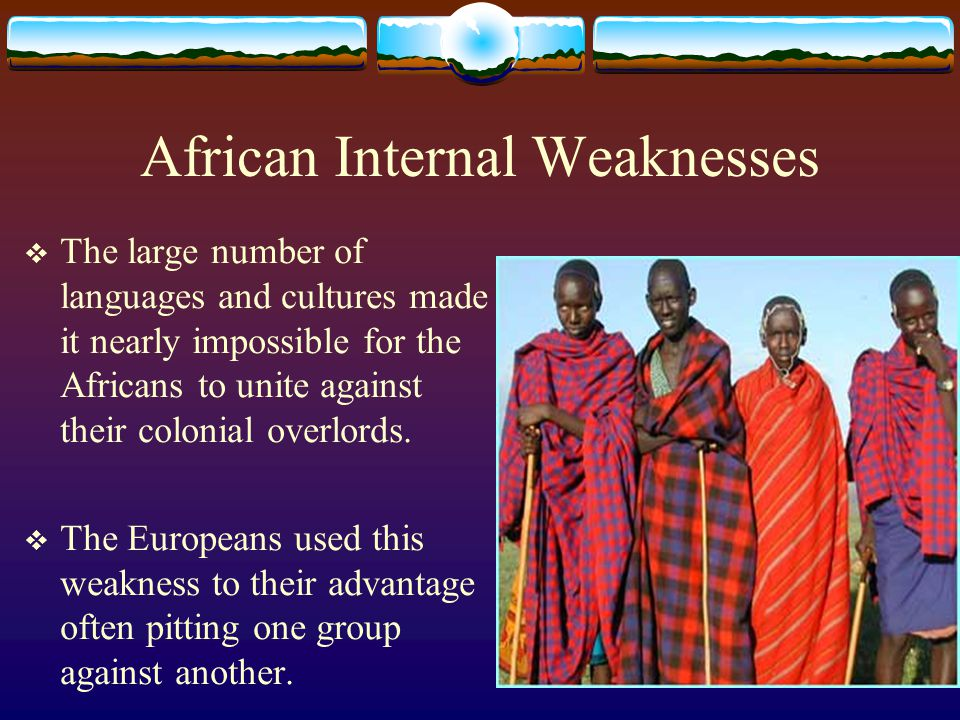 African Internal Weaknesses
