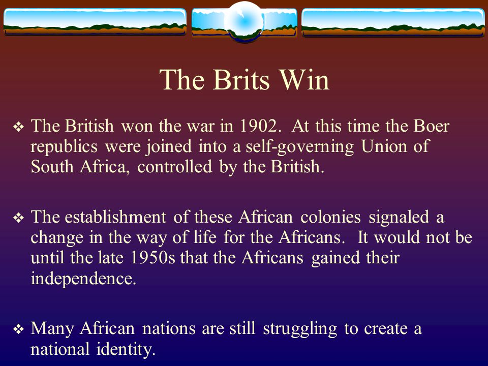 The Brits Win