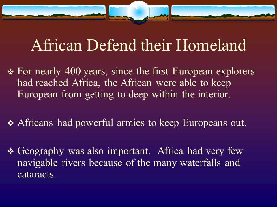 African Defend their Homeland