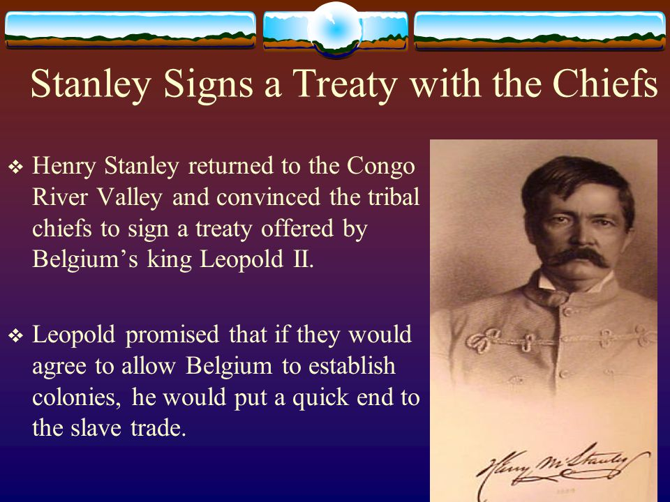 Stanley Signs a Treaty with the Chiefs