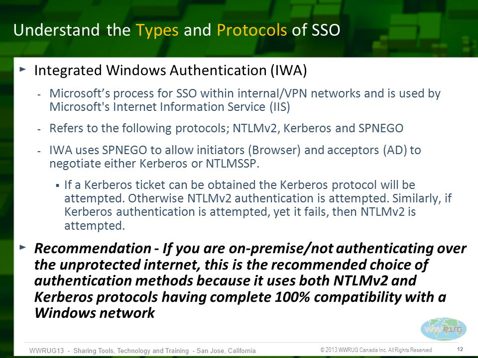 Understand the Types and Protocols of SSO