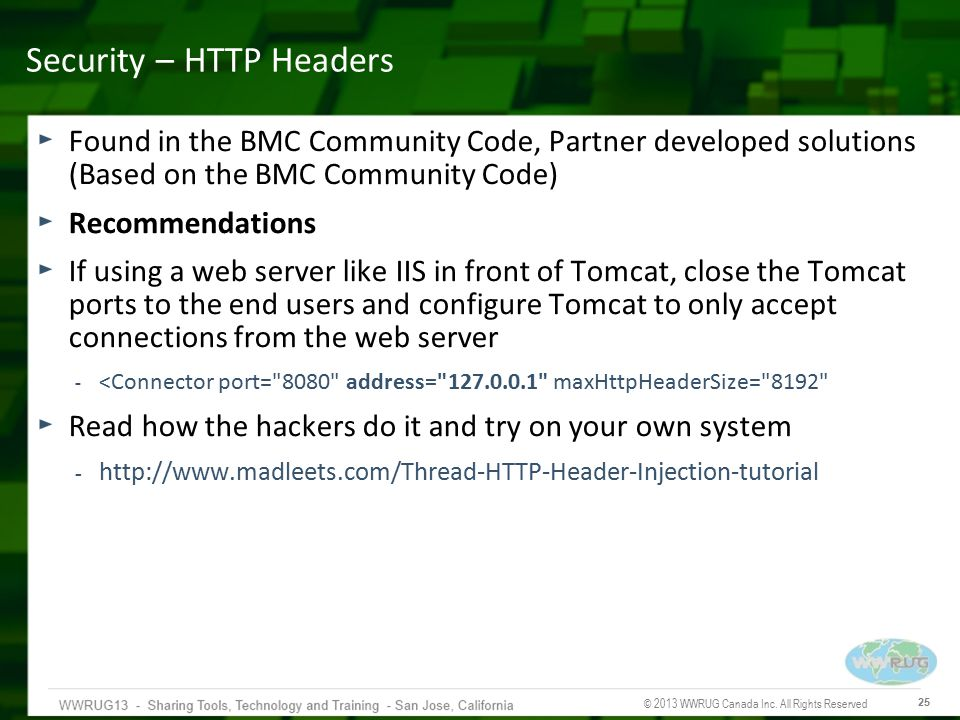 Security – HTTP Headers