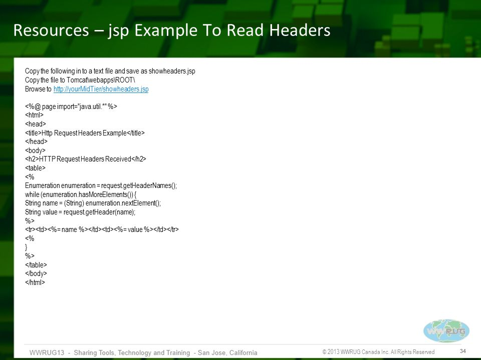 Resources – jsp Example To Read Headers